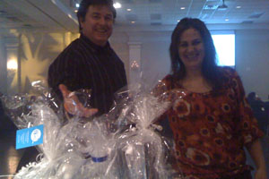 Prize Winner; Eric's cousin Lourdes and Joe
